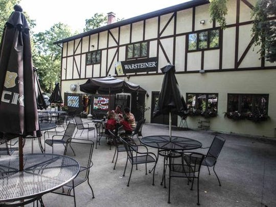 You'll find a beer garden behind Edelweiss Restaurant, 8602 S. Meridian St. located in German Park.
