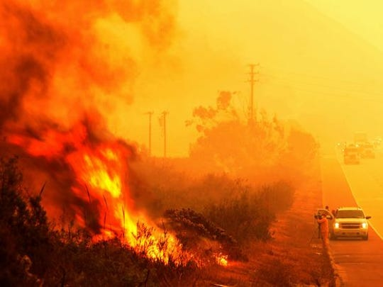 The Thomas Fire grew into California's largest ever.