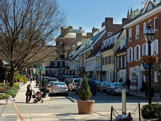 Downtown Princeton.