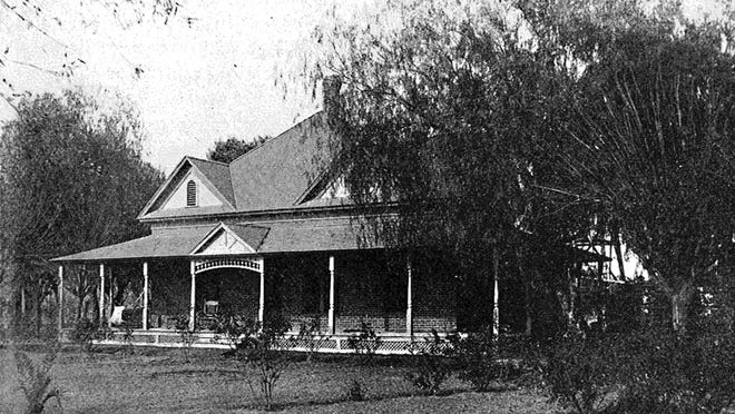 Broad, well-shaded broad porches provided needed shade from the summer sun, and a place to catch a breeze while sleeping on torrid nights.