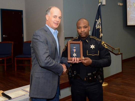 Deputy Darryl Ware was given the Sheriff's Commendation Medal.