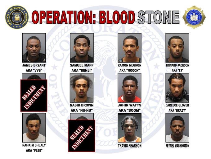 Suspects arrested in Operation: Blood Stone, a Yonkers