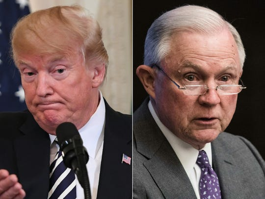 Trump y Sessions, en plena disputa.
