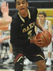 Oaks Christian's Jordan Jones drives to the basket