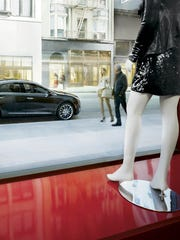 The 2015 Cadillac XTS is pictured in the brand's new New York home.