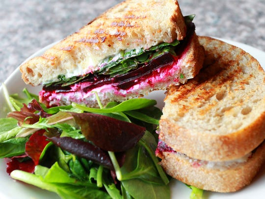 The Patina Panini sandwich prepared Thursday, Dec. 10, 2015, by Patina Coffeehouse in Wausau.
