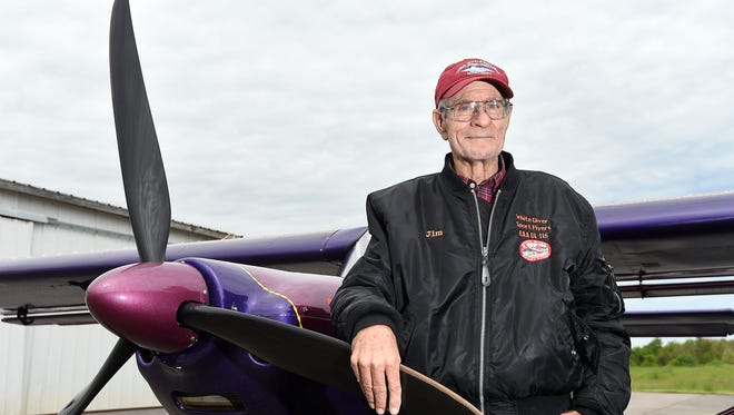 """Jim Davis, 74, of Mountain Home, left Wednesday on a nationwide trip, flying to each of the lower 48 states to give rides to cancer patients and cancer survivors. Davis, who has been battling lung cancer for the past four years, wants to give hope to cancer patients that there is """"life after cancer."""""""