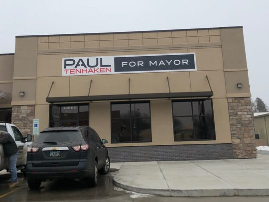 The Paul TenHaken mayoral campaign headquarters is
