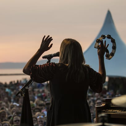Grace Potter plays during day 2 of the Grand Point