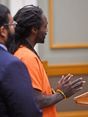 Tavarie Williams, a man accused of trafficking a girl from Texas, makes his first court appearance in Williamson County on Wednesday, Aug. 10, 2016.