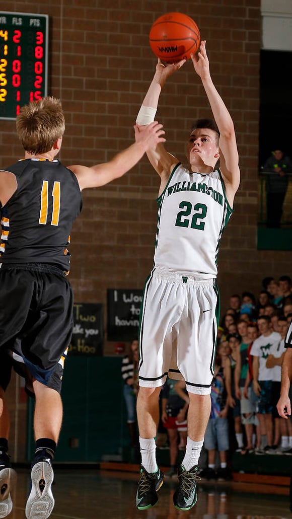Williamston's Riley Lewis (22), shown in a game earlier