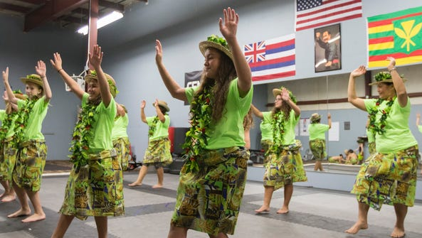 The Paradise of Samoa Dance Troupe practices on Saturday,