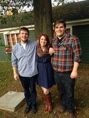 From left: Nick Gabriel, with his sister, Mary-Kathryn and brother, Anthony.