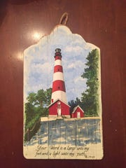 """""""Assateague Light"""" is a painting by Jean Mason. Mason will be the featured artist at Pocomoke City's 4th Friday Street Festival on June 23, 2017."""