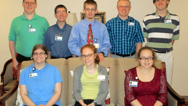 LIU's graduating class of 2016 is shown here. Pictured in the front row, from left, are: Jennifer Gladfelter, Hannah Sullivan, and Veronica Stellhorn. Pictured in the back row, from left, are: Ryan Smith, Joseph Gerzewski, Dylan McFalls, Ben McMaster, and David Sirera.