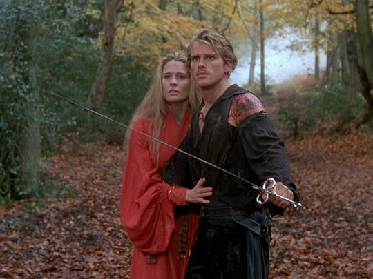 """Robin Wright and Cary Elwes in the 1987 Rob Reiner film """"The Princess Bride."""" 20th Century Fox Robin Wright (left) and Cary Elwes in a scene from the 1987 Rob Reiner film THE PRINCESS BRIDE. Credit: 20th Century Fox."""