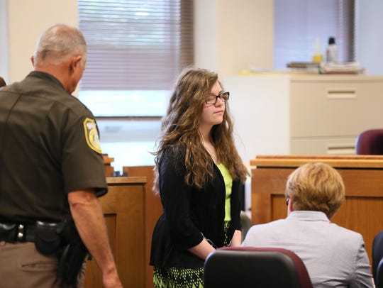Anissa Weier is led into Waukesha County Circuit Court