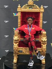 Byrd's Kyah Loyd sits on the throne after receiving