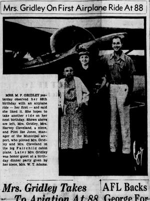 The front page of The Greenville News on Sept. 8, 1938.