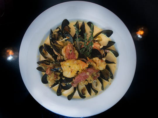 A Saffron Mussels dish is shown at the Giumarello's Restaurant & G Bar.
