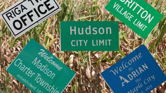 The names of many of Lenawee County's villages and cities, and a few of her townships, have been changed from their original names. These signs represent the tip of the iceberg of such places.