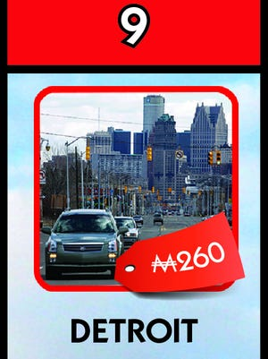 Detroit has a spot on the new Monopoly Here & Now: U.S. Edition.