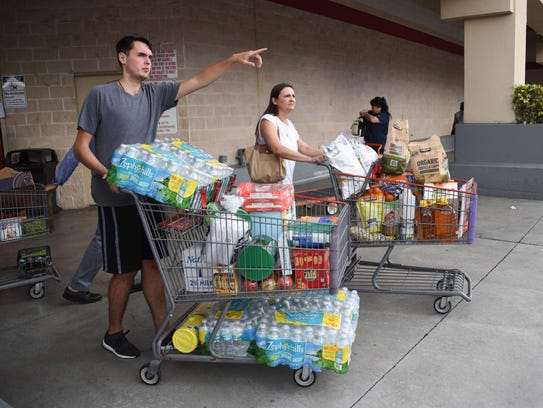 Shoppers at Costco waited up to eight hours for water