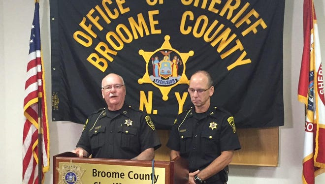 Broome County Sheriff David Harder announces Eric Janis as the new undersheriff Tuesday.