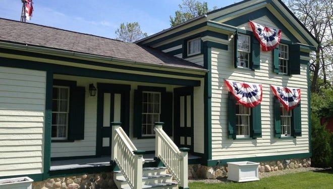 The Barton Farmhouse shows it's patriotic colors.