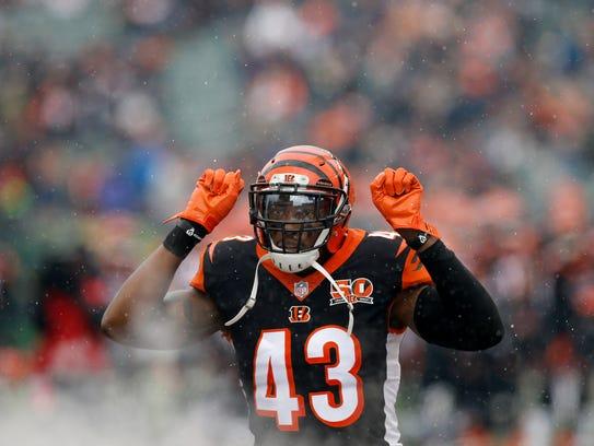 Cincinnati Bengals free safety George Iloka (43) takes