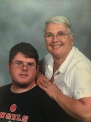 Chris Hazencomb (left) with his mother, Maryanne Hazencomb,
