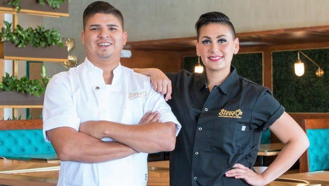 Steven and Drina Hernandez inside their new Steve-O's Beer Garden in far East El Paso.