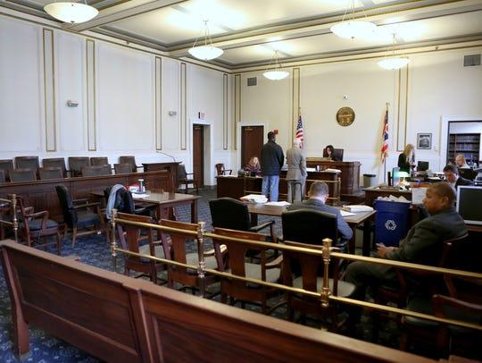 The courtroom of Hamilton Common Pleas Court Judge