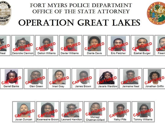 """Operation Great Lakes"" resulted in 21 arrests."