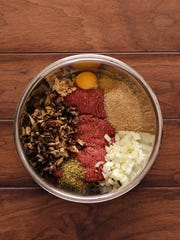 Blended burger ingredients