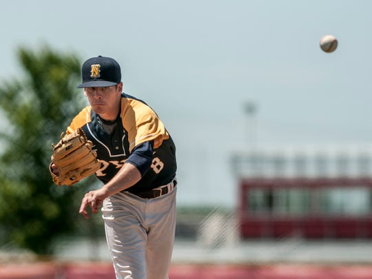 Port Huron Northern's Brett Manis throws a pitch during a regional baseball game Saturday, June 11, 2016 at Anchor Bay High School.