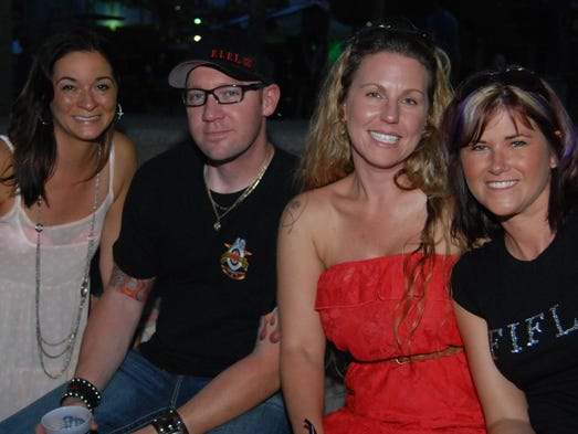Party in the Park wrapped up its 2014 season at Yeatman's Cove.  Lindsay Wadsworth, Rob Kallendorf, Jay Bandurskie and Betty Kellendorf.