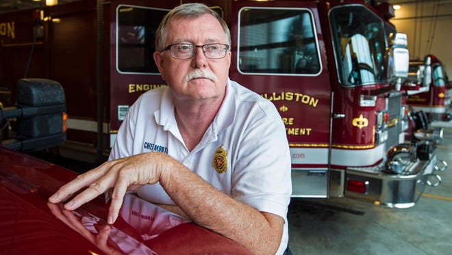 Ken Morton, chief of the Williston Fire Department, reflects on how first responders deal with traumatic events in Williston on Thursday, October 20, 2016.
