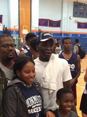 Cardozo High School star Ray Salnave, shown here on the night he committed to Monmouth University, has helped the Judges to 20-1 overall and into contention for a second New York City title in three seasons