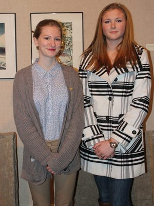 """Megan Proutey (left) and Jennica Crisman, (right) each won the American Visions """"Bestin- Show"""" award."""