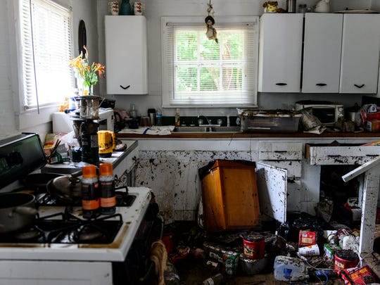 Items are spilled about in the kitchen of Kathy Bostic's