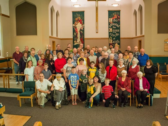 A group photo of the congregation from October of 2016. St. Andrew has donated their building to the Sheboygan Human Rights Association, Inc.