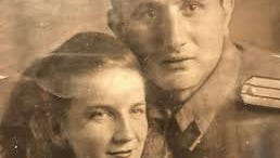 "his is the only existing picture of Lyudmila Alekseevna Khachatryan and ""the Yugoslav,"" Radojica Nenezic."