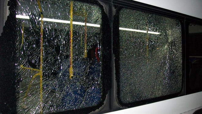 Two bus windows were shot out Tuesday, Oct. 27, near El Rancho and Sun Valley boulevards. Now, RTC has reported two more window shootings, on Oct. 29 and Nov. 1.