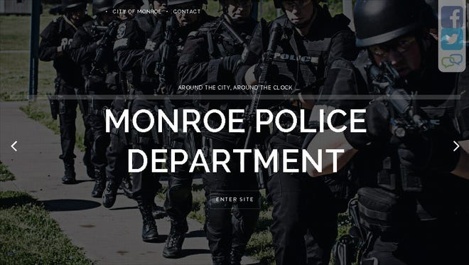 The Monroe Police Department's new website is pictured. The cost of the website could have been several thousand dollars less, according to local Web developers.