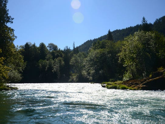 North Santiam River, a venue providing a wealth of