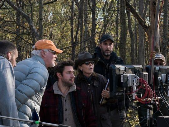Left to right, Visual Effects Supervisor Scott Farrar,