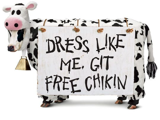 Want free Chick-fil-A? Dress up like a cow on July 10.