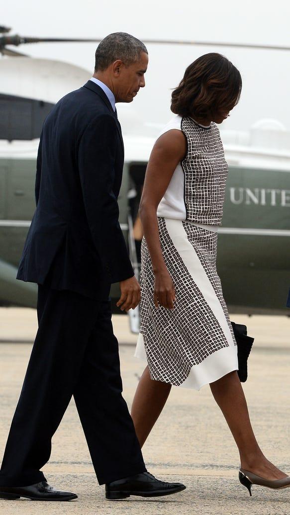 Michelle Obama and President Obama