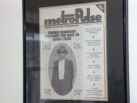A framed copy of the first edition of the Metro Pulse